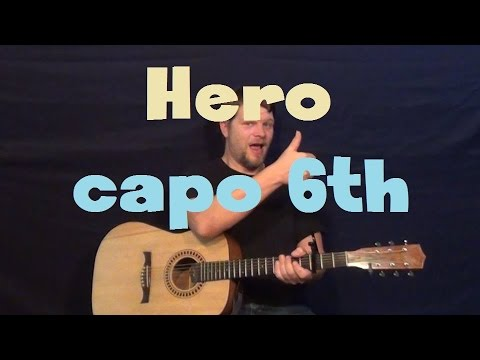 Hero Skillet Super Easy Guitar Lesson Capo 6th Fret How To Play