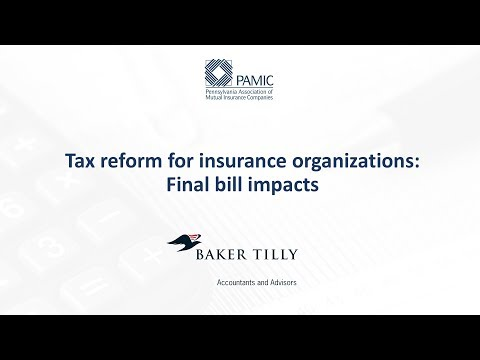 Tax Reform for Insurance Organizations: Final Bill Impacts for P&C Organizations