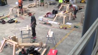 Hawkes Bay Regionals for New Zealand Carpentry Apprentice Challenge