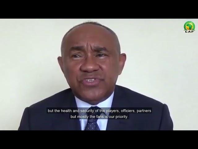 COVID-19: Message du président de la CAF.