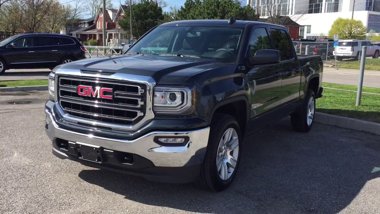 2017 gmc sierra 1500 4wd crew cab z71 suspension black oshawa on stock 171270 youtube. Black Bedroom Furniture Sets. Home Design Ideas