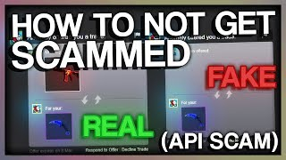 HOW TO NOT GET SCAMMED (CS:GO API SCAM)