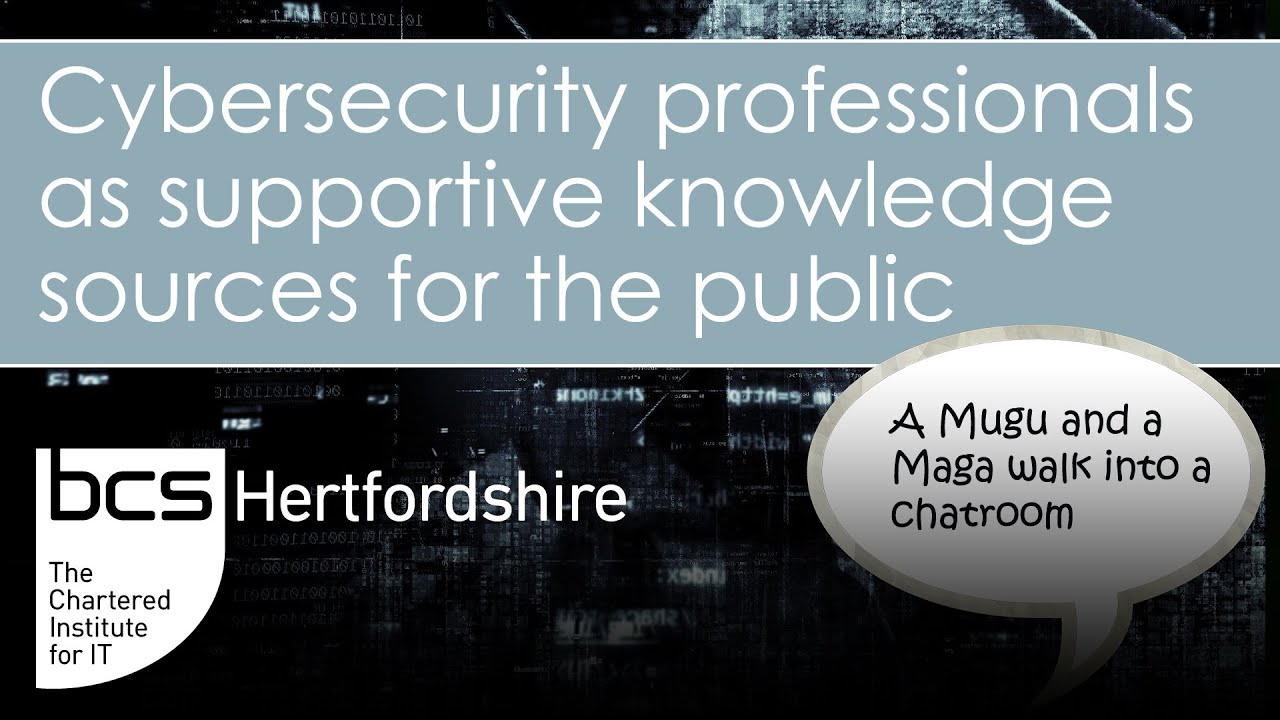 """""""A Mugu and a Maga walk into a chatroom"""" – Cybersecurity professionals as knowledge sources Graphic"""