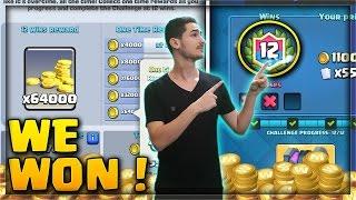 קלאש רויאל - השגנו 12 נצחונות באתגר הזהב ! | אני עשיר ?!