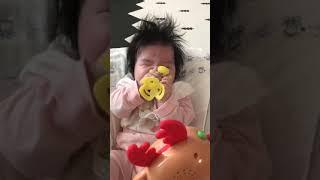 [장난감] 멜로디봉봉 크리스마스캐롤 듣는 3개월 아기