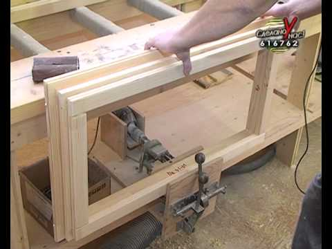 Процесс изготовления деревянного окна