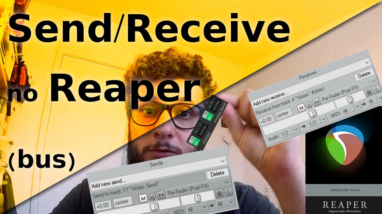 Tutotial: Send e Receive (Bus) no Reaper - O que é, pra que serve e como  configurar