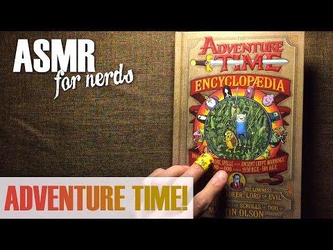 Adventure Time Encyclopedia ASMR Reading - whispering, page turning, book