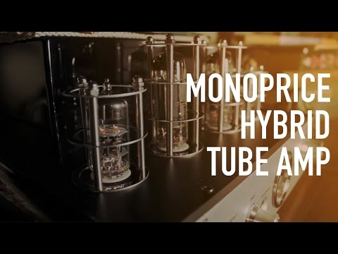 Monoprice Stereo Hybrid Tube Amp with Bluetooth & Speakers