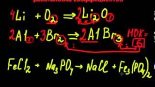 Как уравнивать коэффициенты? (Химия)