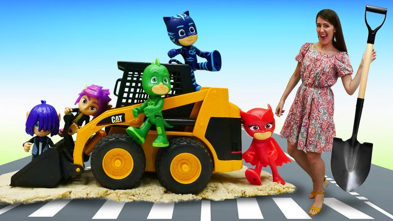 ¡Los PJ Masks construyen una carretera! Guardería Infantil. Vídeos para niños.