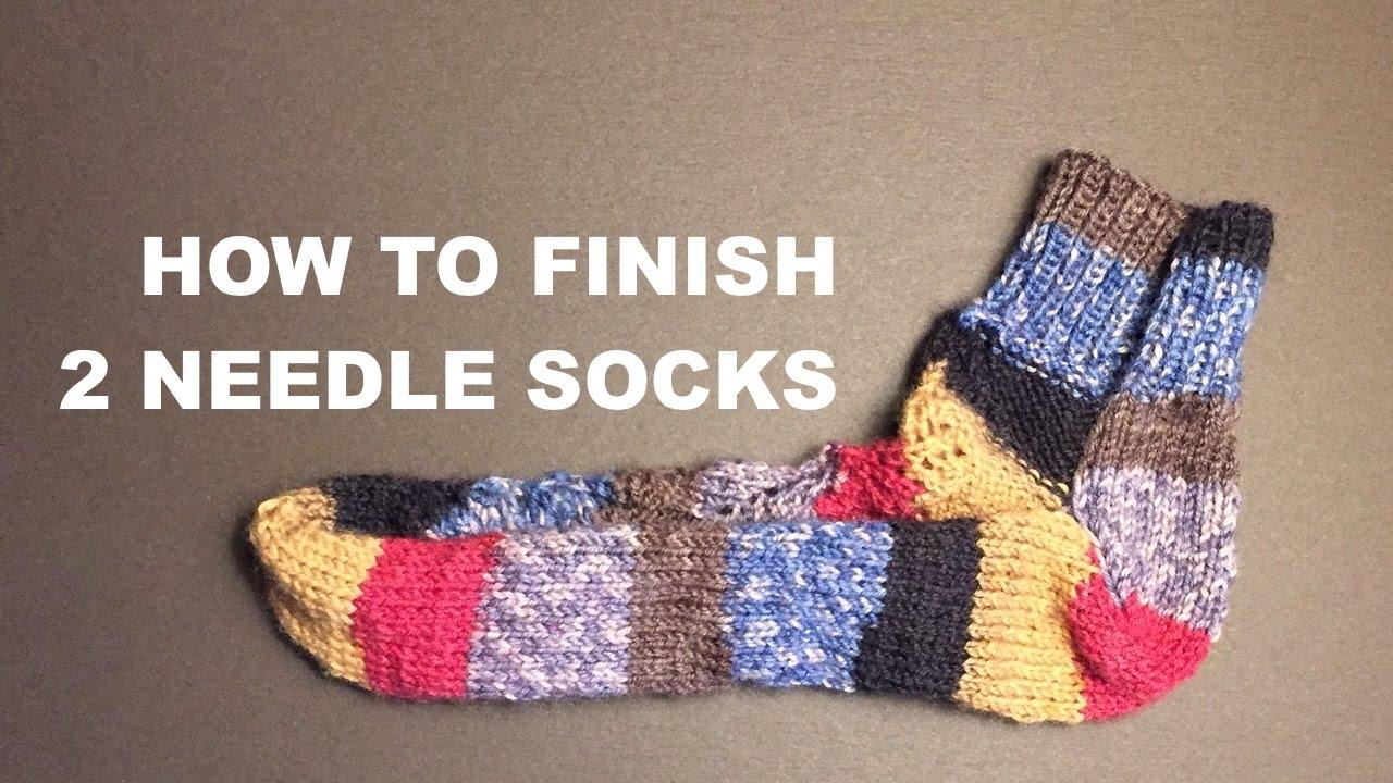 Finishing Socks Knitted On 2 Needles - For Advanced Beginners - YouTube