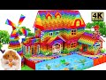 - DIY - Build Country House With Garden, Fish Tank, Windmill For Fish And Hamster From Magnetic Balls