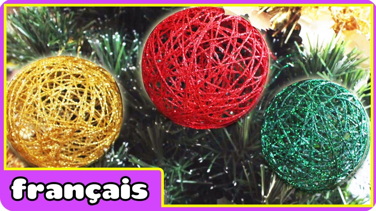 bricolage boules de noël en français diy christmas baubles in