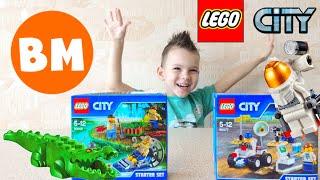 ВМ: Собираем ЛЕГО Космос и Лесная Полиция | Unboxing LEGO City Space and LEGO Police Starter Set