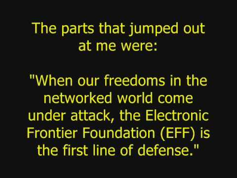 Email to EFF (Electronic Frontier Foundation) for DMCA Help!