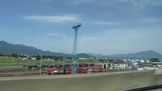 JR東日本 東北新幹線 はやぶさ 車窓 盛岡駅 到着前6分 2015 .6