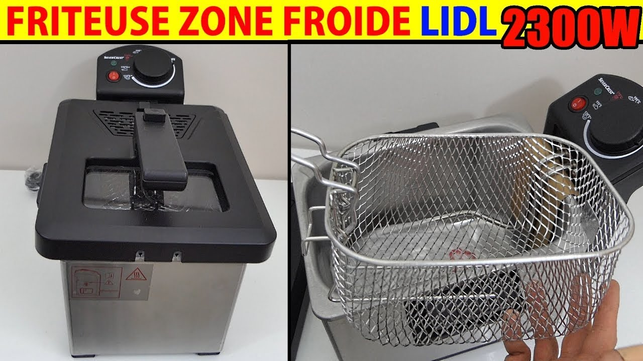 lidl friteuse zone froide silvercrest sef 2300w cool-zone