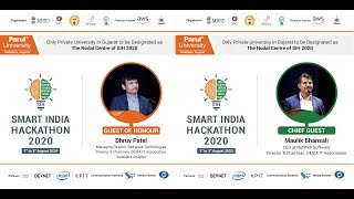 CLOSING  CEREMONY FOR SMART INDIA HACKATHON 2020