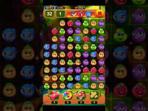 Forest Fruits Crush Mania Match 3 Puzzle Game