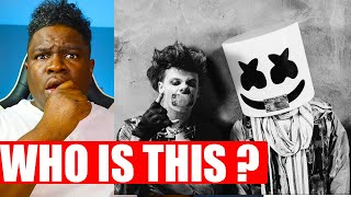 FIRST TIME HEARING Marshmello x YUNGBLUD x blackbear - Tongue Tied  REACTION