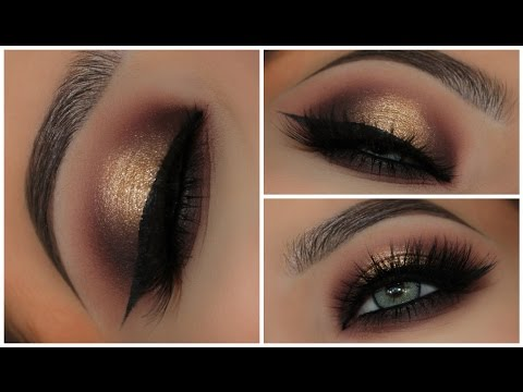 Gold & Black Halo Smokey Eyes