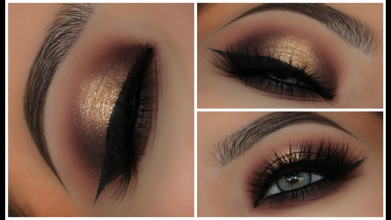 Gold Black Halo Smokey Eyes Amys Makeup Box Youtube