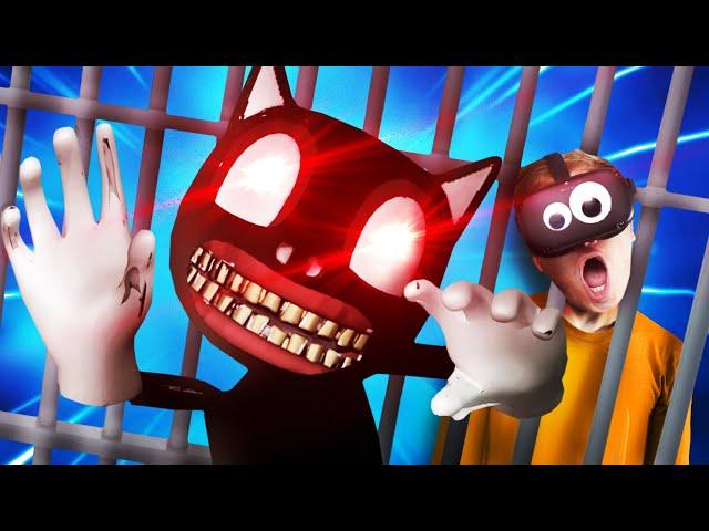 CARTOON CAT LOCKED ME in HIS DEMON PRISON!!?! (Prison Boss VR)