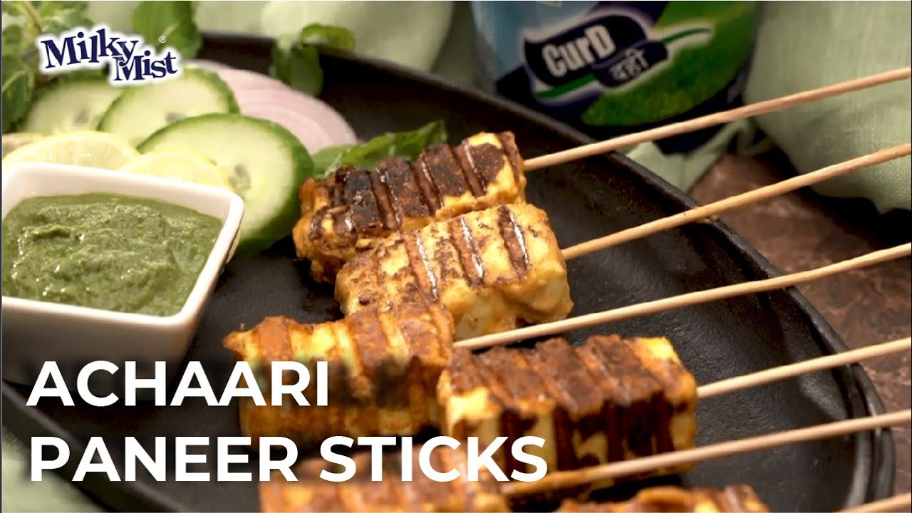Achari Paneer Sticks Recipe | Easy Paneer Sticks Recipe at Home