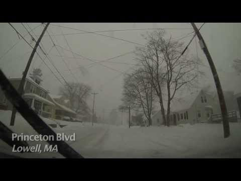Lowell, MA to Chelmsford MA during Snow Storm video