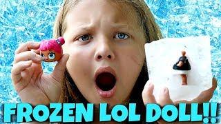 LOL Surprise Doll FROZEN in ICE CHALLENGE! FAIL