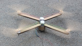 How to make a drone - rubber band drone - quadcopter
