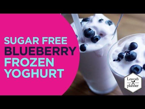Homemade Blueberry Frozen Yogurt
