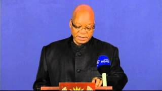Jacob Zuma announces the death of Nelson Mandela