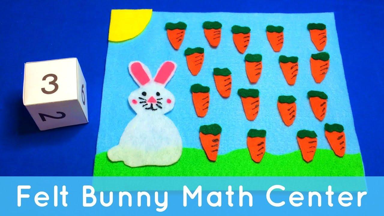 Felt Bunny Math - Preschool Learning Activity - YouTube