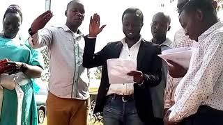 Nsereko Naswifu kigongo swearing ceremony at Kigagga zone kikubanpanga word Kakiri town council waki