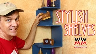 Easy To Make Corner Shelves For Your Home. Only Need Basic Tools!