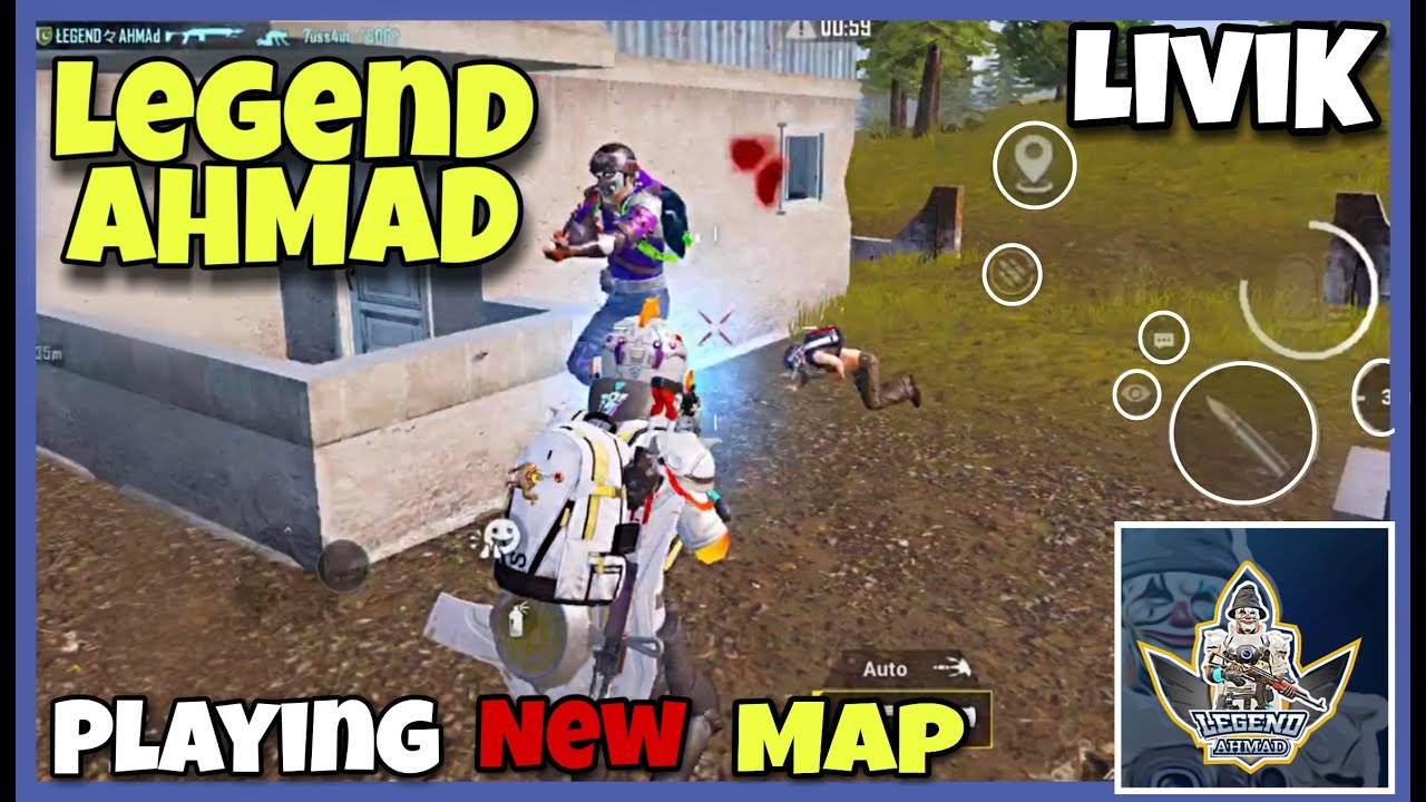 LEGEND AHMAD Playing New Map Livik | Pubg Mobile