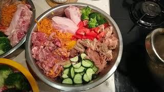 Что едят мои собаки. Натуральное кормление собаки. Доберман