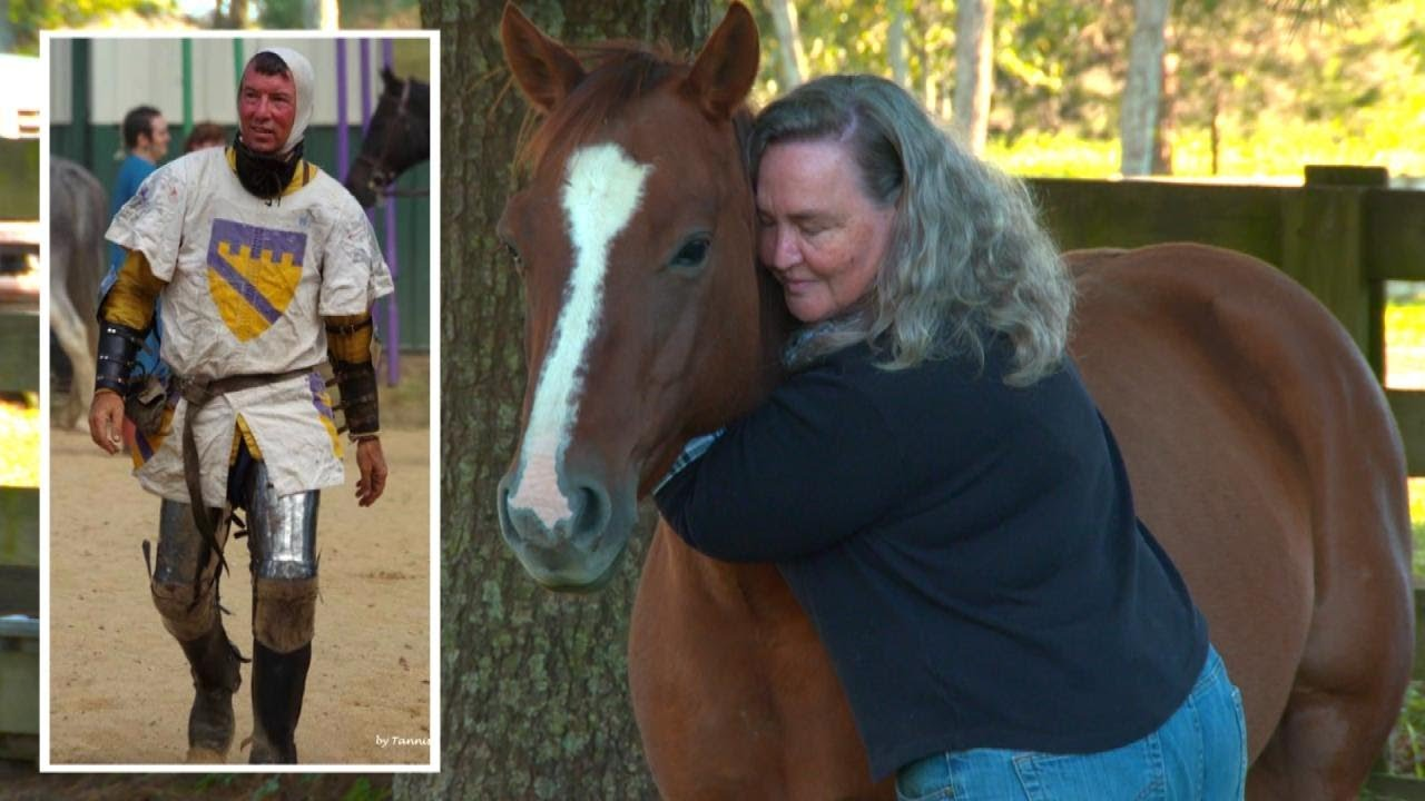 widow-hugs-horse-her-late-husband-was-riding-when-he-was-impaled-by-spear