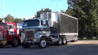 Detroit Diesel powered FTFs, International Transtar. Mack R 600 pushed to life on the Mackdag 2013