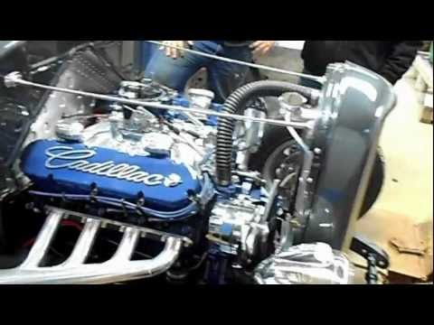 31 Model A With Cadillac 472 start up - YouTube