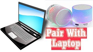 How to connect bluetooth speaker to Laptop or pc | Wireless speaker ko laptop se pair kaise kare