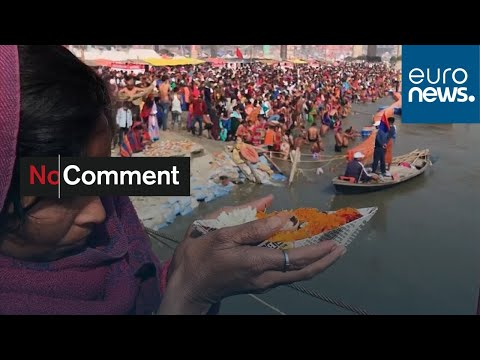 شاهد: المؤمنون الهندوس يؤدون طقس السباحة في نهر الغانغ بمناسبة براياغراج…  - 07:58-2020 / 1 / 26