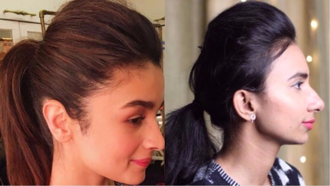 Perfect Broad Puff For Party Indian Festive Hairstyles Alia Bhatt Puff Hairstyle