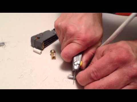 How To Fix Cut Repair Make End On Coax Coaxial TV Cable Wire