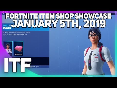 Fortnite Item Shop *NEW* MAVEN SKIN SET! [January 5th, 2019] (Fortnite Battle Royale)