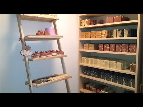 Soaps On The Curing Shelves