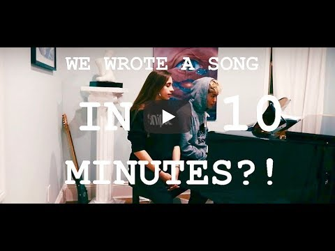 we wrote a song in 10 minutes?? tate mcrae & sean lew