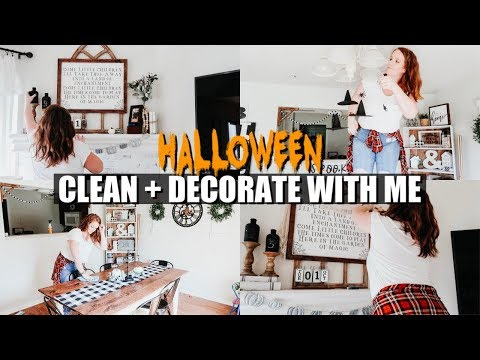 *NEW* CLEAN + HALLOWEEN DECORATE WITH ME 2019 🎃🦇 | SPEED CLEAN MOTIVATION | FARMHOUSE STYLE